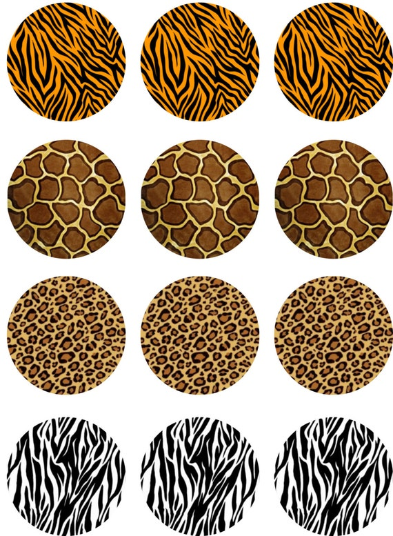Animal print edible image cupcake toppers from for Animal print edible cake decoration