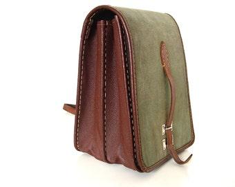 Vintage Military Messenger Bag.