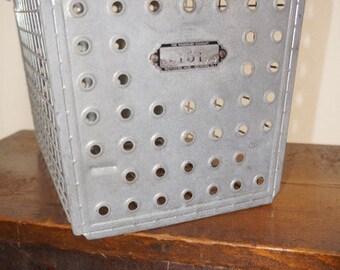 Vintage Metal Locker - Industrial Storage - Vintage Basket - Gym Locker Basket - Vintage Storage - Metal Basket