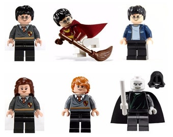 Lot of 6 figures Lego Harry Potter customized