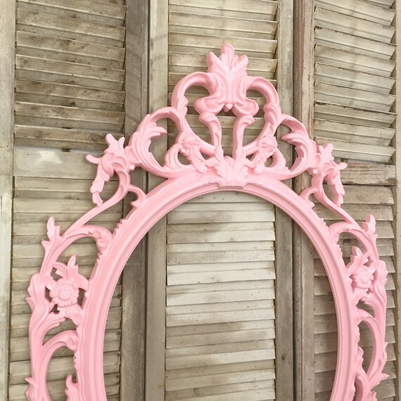 Ornate oval frame nursery decor baby shower gift - Cuadros shabby chic ...