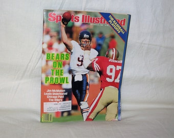 vintage october 21, 1985 sports illustrated with jim mcmahon on the cover