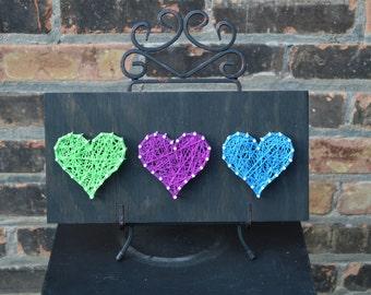 2 option Hearts String Art