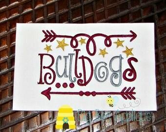 Bulldogs Football Team Mascot Embroidery Design