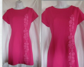 1960 Pink shift dress