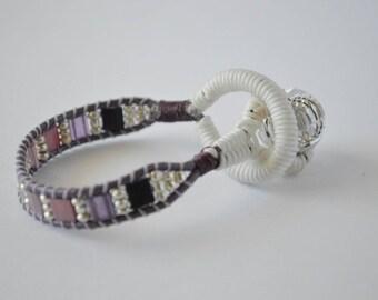 Purple beaded baby bracelet