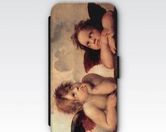 Wallet Case for iPhone 8 Plus, iPhone 8, iPhone 7 Plus, iPhone 7, iPhone 6, iPhone 6s, iPhone 5/5s -  Raphael's Angels Cherubim