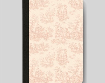 iPad Folio Case, iPad Air Case, iPad Air 2 Case, iPad 1 Case, iPad 2 Case, iPad 3 Case, iPad Mini, Vintage French Pink & Cream Toile Pattern