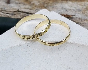 Stacking rings, Gold simple rings, Gold rings, Knuckle rings, Band rings, Set of 2 midi rings, Gold jewelry, Gifts under 20, Dainty rings