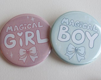 Magical Girl/Magical Boy Pinback Button