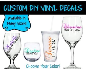 VD0011 - DIY Bridal Party Decal - Bridal Party Gifts - Tumbler Decals - Bachelorette Decals - Bridal Party Gifts