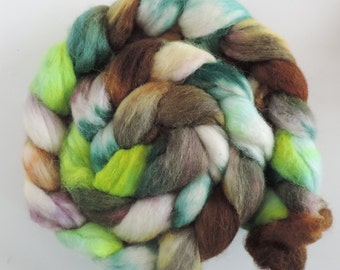 Shetland,Babyalpaka,Lama,Seide, Purtzeltroll,120g,speckled dyed,Kammzug, Fasern zum Spinnen,Filzen