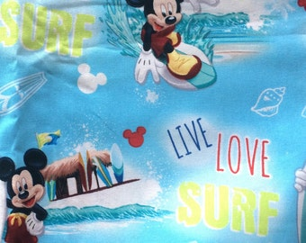 Mickey Mouse Cotton Fabric Surfing Disney #CP53524 Mickey Live Love Surf Quilting Sewing