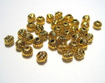 30pcs Antique Gold Lanterns Spacer Bead 5mm Metal Spacer Beads