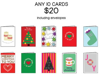 Ten Card Set, Choose ANY 10 cards | Discount Variety Set