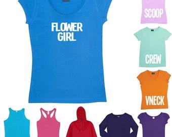 Flowergirl T-Shirt or Singlet