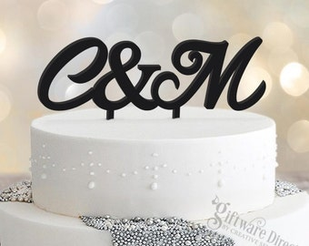 Personalised Initial Wedding Cake Topper Acrylic Decoration Custom Made Letters