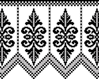 Elegance for a Valance: A View of Beauty in Filet Crochet