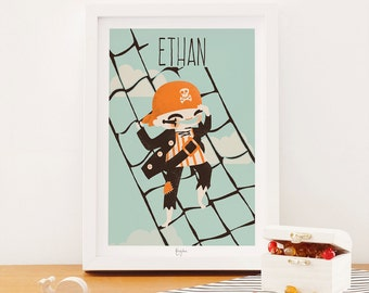 custom art print for kids  -  The Pirate Collection - the Sailor