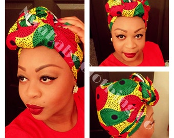 Ankara African Head Wrap Headtie Scarf Ichafu 2 sizes