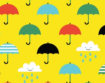 Fabric - Cloud 9 - Laminated cotton - Singing in the rain yellow