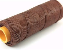Waxed Cord, 25 mt Linhasita Waxed Thread, 1.2mm Brown Waxed Cord, Polyester Macrame Wax Rope Cord, High Quality