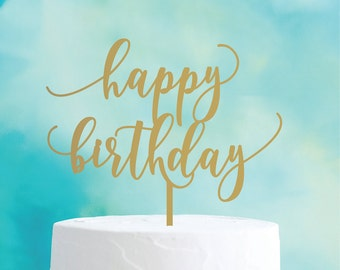 happy birthday : cake topper