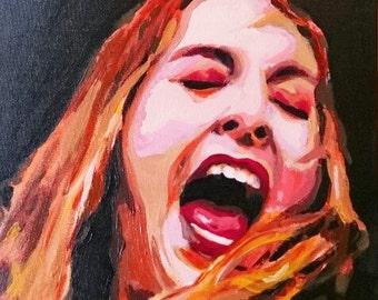 Painted portrait of Este Haim