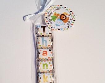 Safari Baby Shower Favors-Jungle Baby Shower Favors-Personalized DIY Baby Shower Favors-Unique Baby Shower Favors-Set of 10