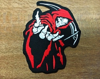 New Skull Devil Death Embroidered Sewing Iron On Patch Or Sew