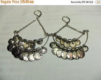SALE Sterling Gypsy Dangle Earrings, retro dangles drop pierced, Retro Jewelry gift for her, hippie style, Gingerslittlegems