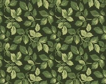 Leaves Dark Green (8605-G) Fresh Lilacs Collection by Maywood Studio Cotton Fabric Yardage