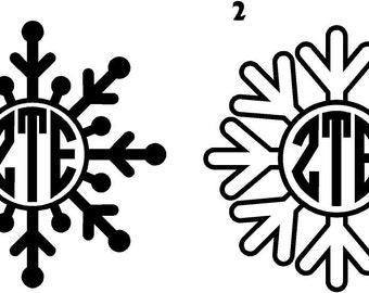 Snowflake Monogram Decal