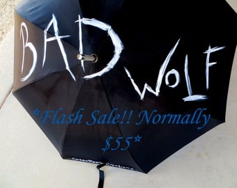 SALE Bad Wolf Umbrella: Doctor--?