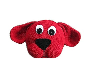 Crochet Dog PATTERN, Crochet Pillow Pattern, Dog Pillow, animal pillow for nursery decor and baby bedding