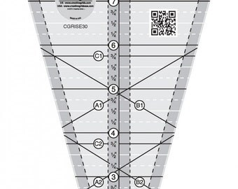 Creative Grid Starburst 30 degree Triangle ruler