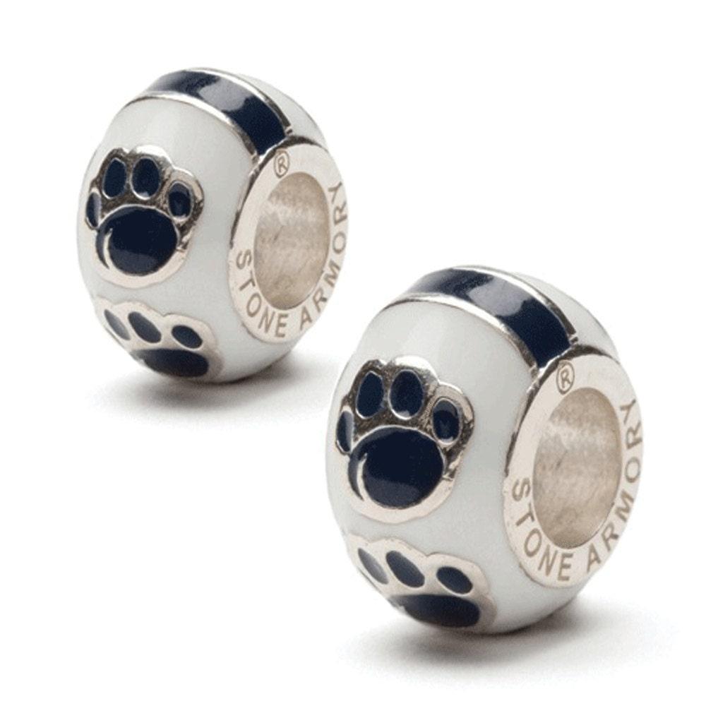 penn state paw bead charm set of two fits pandora