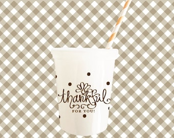 Thanksgiving Kids Table Cups (reusable) - Qty 6