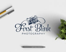 Retro Photography Logo, Premade Photography Logo , Vintage Camera
