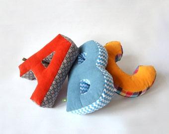 Cozy cuddle ABC, letter, letter cushions