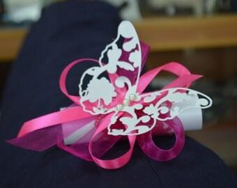 Set 60 pc wedding invitation butterfly