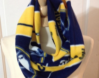 Buffalo sports themed infinity scarf to fabric styles available 56 inches around