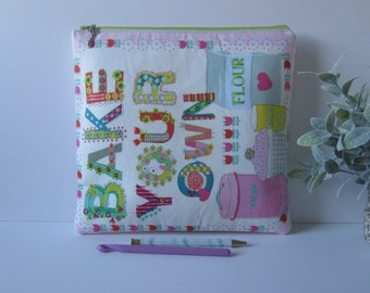 Project Bag for Knitting Crochet Embroidery Cross-stitch Supply Pouch (3)