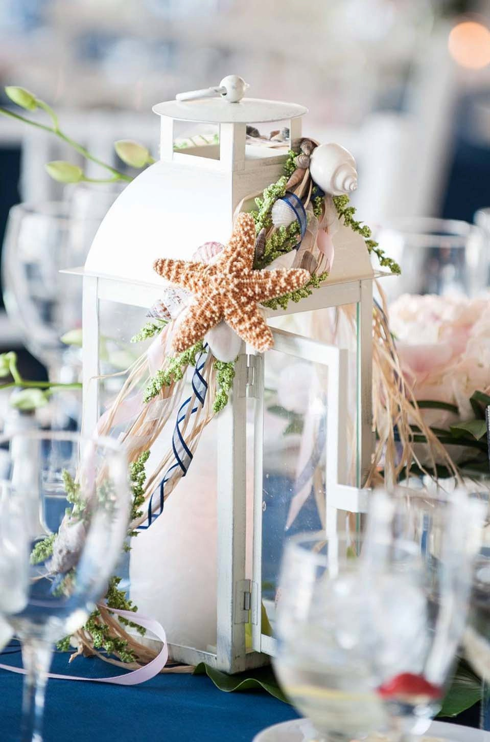 distressed beach themed wedding lanterns centerpieces. Black Bedroom Furniture Sets. Home Design Ideas