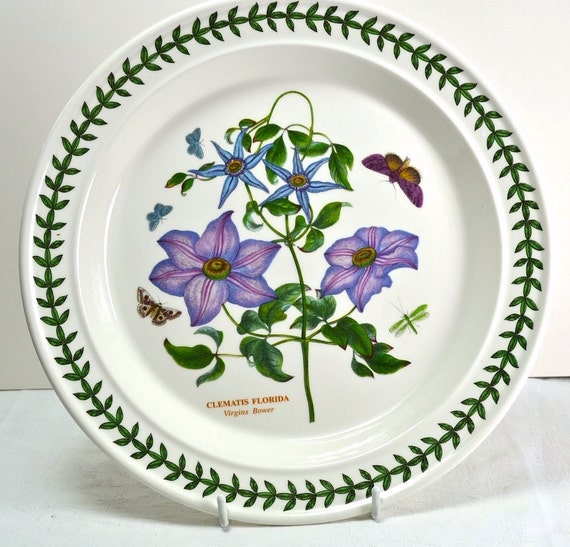 Portmeirion Botanic Garden Dinner Plate Purple Clematis