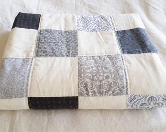 Checkered Gray Crib Quilt