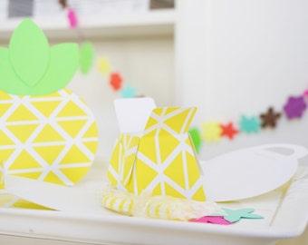 Pineapple Favor Box - Luau Party - Hawaiian Luau - Luau Party Supplies