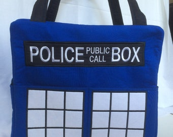 Dr. Who Diaper Bag, Police Public Call Box, Doctor Who, Call Box, Phone booth, made to order, tardis, bbc america, police