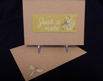 Just a Note - Dragonfly Note Card
