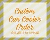 Custom Can Cooler, Custom KOOZIE®, Custom Can Insulator, Custom Beer Can Cooler, Collapsible, Design Your Own KOOZIE®, Custom Drink Cooler